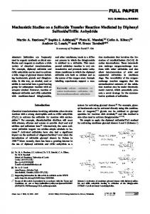 Mechanistic Studies on a Sulfoxide Transfer Reaction ... - BioMedSearch