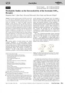 Mechanistic Studies on the Stereoselectivity of the