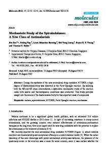 Mechanistic Study of the Spiroindolones: A New