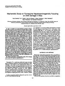 Mechanistic Study on Flumequine Hepatocarcinogenicity Focusing on ...