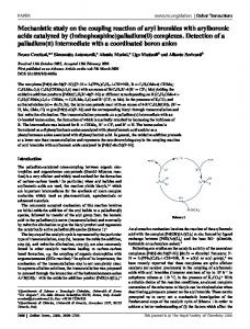 Mechanistic study on the coupling reaction of aryl ...