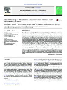 Mechanistic study on the interfacial variation of ...