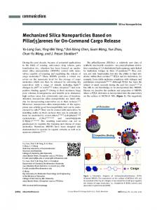 Mechanized Silica Nanoparticles Based on ... - Wiley Online Library