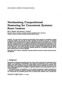 Mechanizing Compositional Reasoning for Concurrent Systems ...