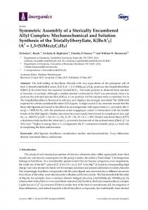 Mechanochemical and Solution Synthesis of the Tris(allyl) - MDPI