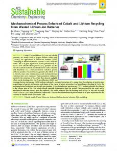 Mechanochemical Process Enhanced Cobalt and ... - ACS Publications
