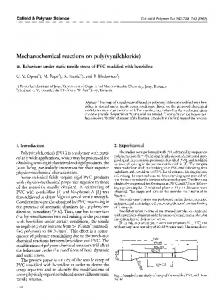 Mechanochemical reactions on poly(vynilchloride) - Springer Link