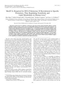 Med25 Is Required for RNA Polymerase II Recruitment to Specific ...