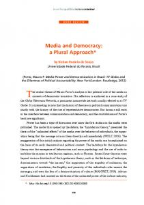 Media and Democracy: a Plural Approach - SciELO