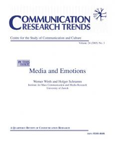 Media and Emotions - Centre for the Study of Communication and ...