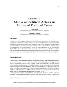 Media as Political Actors in Times of Political Crisis