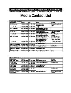 Media Contact List - San Francisco - San Francisco Department of ...