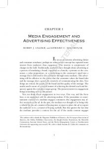 Media Engagement and Advertising Effectiveness