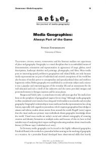 Media Geographies: Always Part of the Game - Media Geography at ...