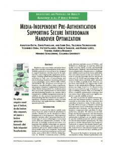 media-independent pre-authentication supporting ... - Semantic Scholar