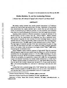 Median Statistics, H_0, and the Accelerating Universe