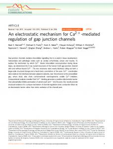 mediated regulation of gap junction channels - CyberLeninka