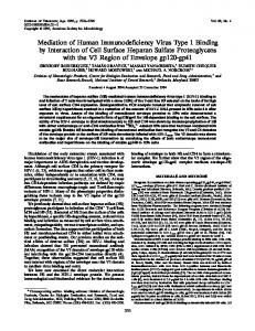 Mediation of Human Immunodeficiency Virus Type 1 ... - NCBI - NIH