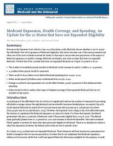 Medicaid Expansion, Health Coverage, and Spending: An Update ...