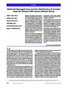 Medicaid Managed Care and the Distribution of Societal Costs for ...