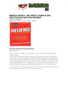 MEDICAL BOOKS I INFLUENCE: SCIENCE AND PRACTICE (4TH ...