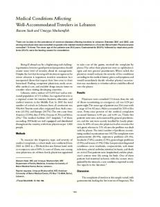 Medical Conditions Affecting Well ... - Wiley Online Library