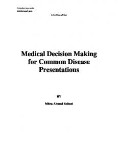 Medical Decision Making for Common Disease Presentations