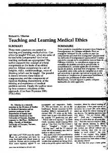 Medical Ethics - Europe PMC