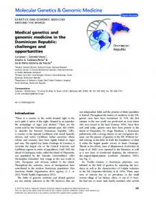 Medical genetics and genomic medicine in the ... - Wiley Online Library