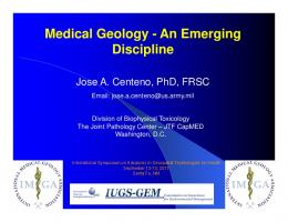 Medical Geology - An Emerging Discipline - ISPRS