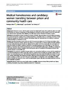 Medical homelessness and candidacy - International Journal for ...
