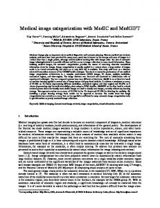 Medical image categorization with MedIC and
