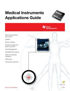 Medical Instruments Applications Guide - Texas Instruments