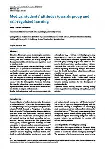 Medical students' attitudes towards group and self-regulated learning