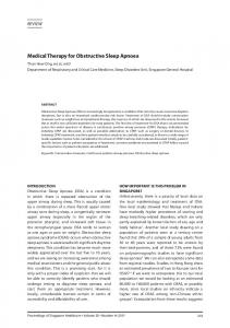 Medical Therapy for Obstructive Sleep Apnoea - SAGE Journals