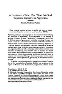 Medical Tourism Industry in Argentina - Edinburgh University Press