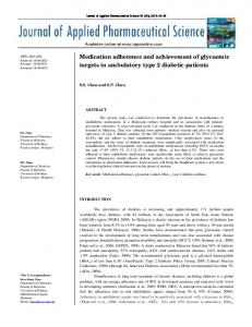 Medication adherence and achievement of ... - Semantic Scholar