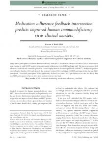 Medication adherence feedback intervention ... - Wiley Online Library