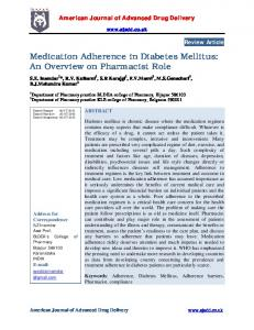 Medication Adherence in Diabetes Mellitus: An Overview ... - iMedpub