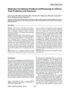 Medication Compliance Feedback and ... - Wiley Online Library