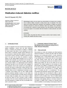 Medication-induced diabetes mellitus - Wiley Online Library