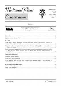 Medicinal Plant Conservation - IUCN