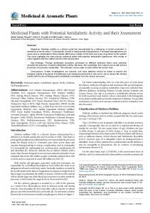 Medicinal Plants with Potential Antidiabetic ... - OMICS International