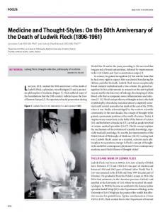 medicine and thought-styles: on the 50th anniversary ...