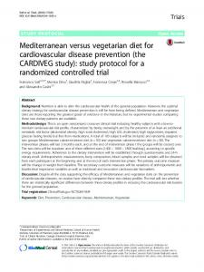 Mediterranean versus vegetarian diet for ... - Springer Link