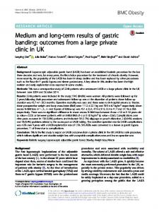 Medium and long-term results of gastric banding ... - BMC Obesity