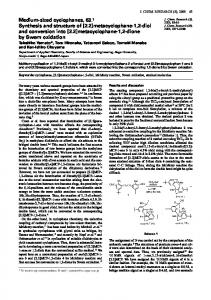 Medium-sized cyclophanes, 63.1 Synthesis and ... - IngentaConnect