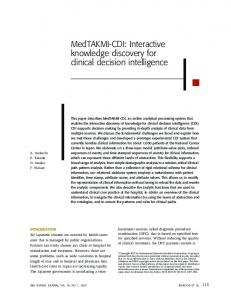 MedTAKMI-CDI: Interactive knowledge discovery ... - Semantic Scholar