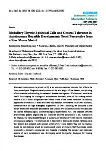 Medullary Thymic Epithelial Cells and Central