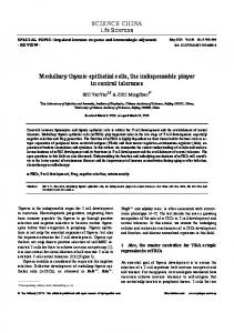 Medullary thymic epithelial cells, the indispensable player in central ...